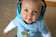 Amazon.com: Baby Banz Baby-Boys Newborn Hearing Protection Earmuff, Blue, 3 months+: Baby