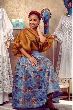 Latest African Fashion Dresses, African Dresses For Women, African Print Dresses, African Print Fashion, African Attire, African Wear, Classy Outfits, Chic Outfits, Fashion Outfits