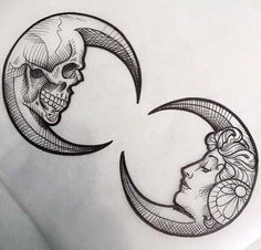 Pen and ink. Skull and life Trendy Tattoos, Black Tattoos, Arm Tattoos, Body Art Tattoos, Tattos, Moon Tattoos, Infinity Tattoos, Celtic Tattoos, Skull Tattoos
