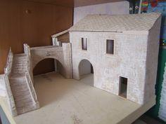 Fabrication d'un mur de pierre (carton plume et liege)