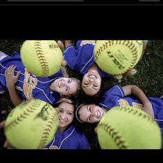 Senior picture idea. senior softball players should do this!!!