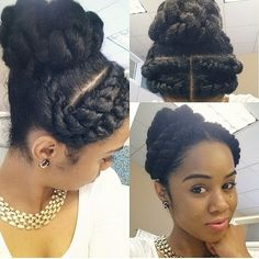What an elegant protective style. Love it!