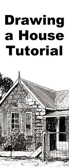 Learn to draw buildings and houses with this pen and ink drawing lesson