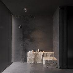 Black bathroom: 40 modern design ideas that you can quickly discover . - Black bathroom: 40 modern design ideas that you can quickly discover – - Interior Flat, Black Interior Design, Bathroom Interior Design, Stone Interior, Interior Modern, Diy Interior, Interior Lighting, Luxury Interior, Bad Inspiration