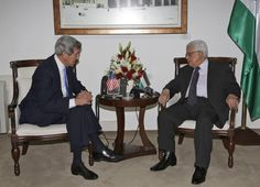 U.S. Secretary John Kerry is looking to breathe new life into dormant Mideast peace talks in meetings Monday with Israeli PM Benjamin Netanyahu, amid talk of modifying a decade-old Arab plan that's long been greeted with skepticism by the Jewish state.--  Palestinian President Mahmoud Abbas, right, meets with U.S. Secretary of State John Kerry in the West Bank city of Ramallah, Sunday, April, 7, 2013. (AP Photo / Mohamed Torokman)