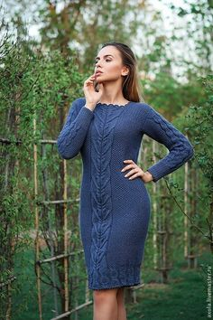 Kazak Elbise Lacivert Diz boyu Kare Yaka Desenli The clothing culture is quite old. Wool Dress, Knit Dress, Dress And Heels, The Dress, Mode Outfits, Fashion Outfits, Winter Mode, Knit Skirt, Winter Dresses
