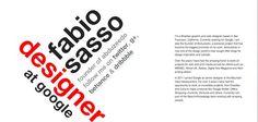 Brazilian Google designer and founder of Abduzeedo Fabio Sasso's personal Website - fabiosasso.com