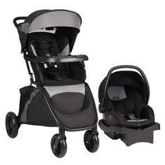 Evenflo Sibby Travel System Mineral Gray Target Travel