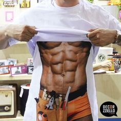 Avental corpo homem faz tudo #corposarado #abdomentrincado #aventaldivertido #aventaisdivertidos #aventalcorpo