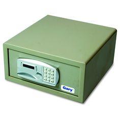 Gary Laptop Safe, 1.2 capacity, 15-3/4w x 16-5/8d x 7-9/16h - Gray, Light Grey