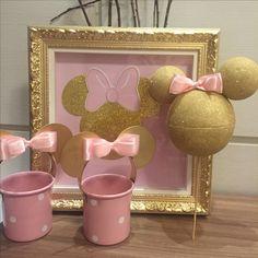 Minnie rosa e dourado por ARTEIRICES DA LILI