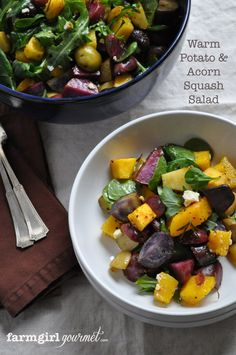 This Warm Potato & Acorn Squash Salad recipe, courtesy of Farmgirl Gourmet, was part of the Munch Madness Kitchen Play Challenge. Try it today!
