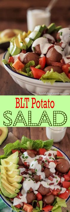 Try something new this summer like this easy layered BLT Potato Salad (Avocado optional):