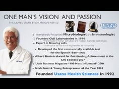 Wentz der Erfinder der Usana Health Sciences www. Health And Nutrition, Health And Wellness, Health Care, Nutritional Requirements, Cancer Support, World Leaders, Weight Management, Trust Yourself, The Creator