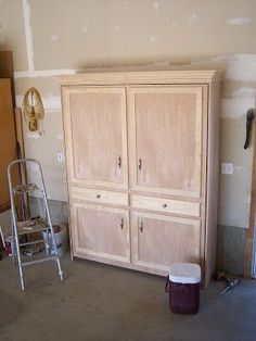 """Okay, so here it is. The """"BIG PROJECT"""" the hubster and I have been working on. Finally finished. So what is it? An armoire? No. T.V. Cabine..."""
