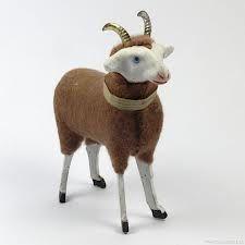antique erzgebirge putz stick leg sheep