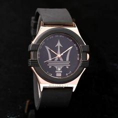 Maserati quartz acero inox y correa silicona reloj sport men casual  deportivo Silicona 6b43ab98909f