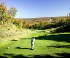 Gaylord, MI for fall golf