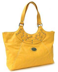 Tote Handbag with Silver Accents. www.thetrendyboutique.com #handbag #purse