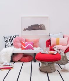 color adventures: a red and blush room!