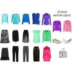 Bright Winter Wardrobe Capsule {Springtime Colors}