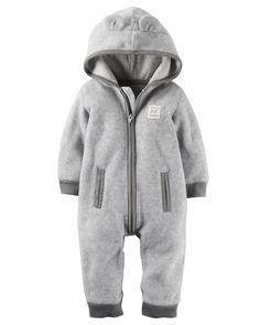 Baby Boy Hooded Fleece Jumpsuit   Carters.com