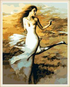 Diy oil painting, paint by number kit- Swan Dancer