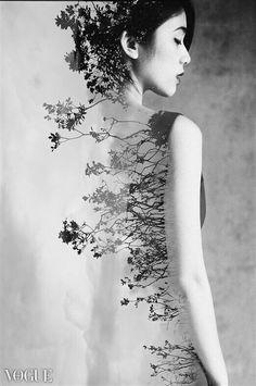 Double Exposure----Chiara Anna..lascio indietro le radici che piantai .non hanno piu' colore..portano brividi sul mio cuore..e mi incammino facendo asciugare..quella lacrima.che ha tanto bagnato la mia anima.
