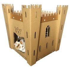Catu0027s Fortress Cardboard Cat House,Cat Furniture,Cat Bed,Cat Cave,Cat Toy,Pet  House,Cardboard Furniture,Cat Condo,Personalized Gift