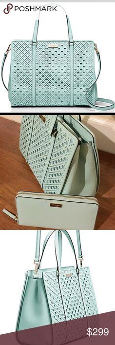 Kate Spade Purse & Wallet💜 Brand new Kate Spade purse & wallet! Beautiful light teal color, matching. kate spade Bags Satchels