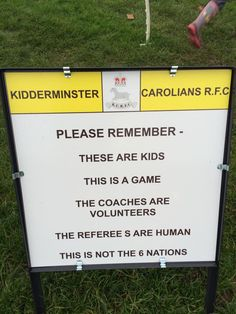 From a kids rugby tournament in UK