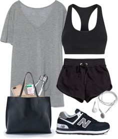 Designer Clothes, Shoes & Bags for Women Cute Nike Outfits, Cute Workout Outfits, Cute Lazy Outfits, Teenage Girl Outfits, Girls Fashion Clothes, Teenager Outfits, Teen Fashion Outfits, Mode Outfits, Outfits For Teens