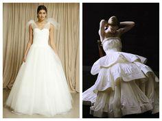Vestido de novia Oscar de la Renta (foto 1) y Lanvin (foto 2)