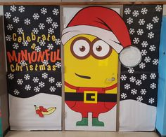 2015 Xmas Classroom Door Minion Theme