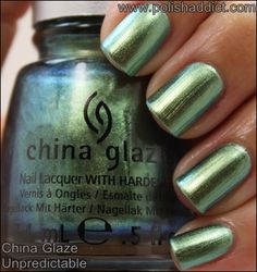"China Glaze ""Unpredictable"" Duochrome nail polish"