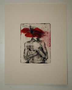 Original drypoint etching 22.10.14 by mrchurchyard on Etsy