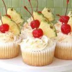 If you want a light, tasty summer treat..this ones for you! Makes a beautiful presentation too! Who doesn't like coconut, rum and pineapple?!