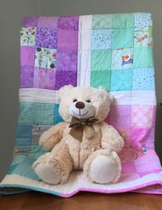 Handmade Baby Quilt, Hearts Quilt, Baby Shower Gift, Boy or Girl Quilt, Baby Blanket, Nursery Bedding, Baby Christmas, Gender Neutral Baby Patchwork Quilt, Quilt Baby, Handmade Baby Quilts, Quilt Labels, Baby Shower Gifts For Boys, Girls Quilts, Nursery Bedding, Christmas Baby, Quilt Top