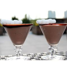 S'mores Margarita  Here's something for the adults to have while hanging around the campfire, the fire pit or a hot date.  Heck it's chocolate I can think of 356 days this would be good. ;)