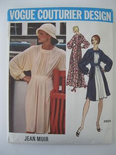 VTG Vogue Couturier Design Jean Muir Dress Pattern  #2804