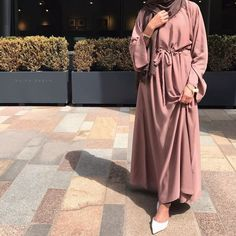Introducing our new versatile Bella abayas. Features bell arms and a belt attached. Modest Fashion Hijab, Modern Hijab Fashion, Muslim Women Fashion, Abaya Fashion, Teen Fashion Outfits, Mode Outfits, Woman Fashion, Hijab Trends, Pakistani Dress Design