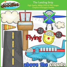 The Landing Strip Clip Art by ScrappinDoodles on Etsy, $2.50