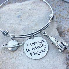 Disney - Disney Bracelet - Disney Jewelry - Disney Bangle - Disney Necklace - Toy Story - To Infinity and Beyond - Woody - Buzz Lightyear