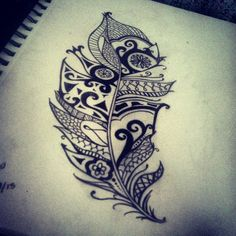 Feather Tattoo #tribal