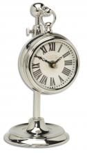 Pocket Watch Nickel Marchant Cream Clock Uttermost in Clocks. Nickel plated brass pocket watch replica that hangs on an adjustable telescopic stand. Stand adjusts from 8 to 12 in height. Tabletop Clocks, Mantel Clocks, Cream Wall Clocks, Cartier, Table Watch, Thing 1, Desk Clock, Bedside Clock, Decorative Accessories