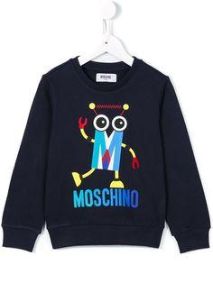 Moschino Kids robot print sweatshirt