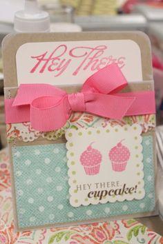 Cupcake Pocket Card por mwooderson en Etsy