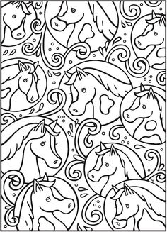 Dover SPARK Horses Coloring Page 3