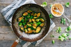 Honey siracha Brussels sprouts (A nice change of pace from how I usually do my sprouts -A)