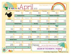 April 2013 Calendar   free Online Preschool   Cullen's Abc's    www.cullensabcs.com